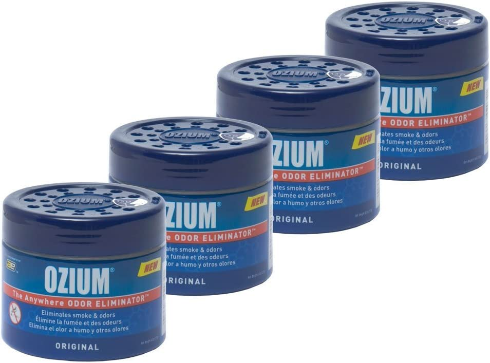 Ozium 804281-4 Smoke & Odors Eliminator Gel, Original Scent, 4 Pack