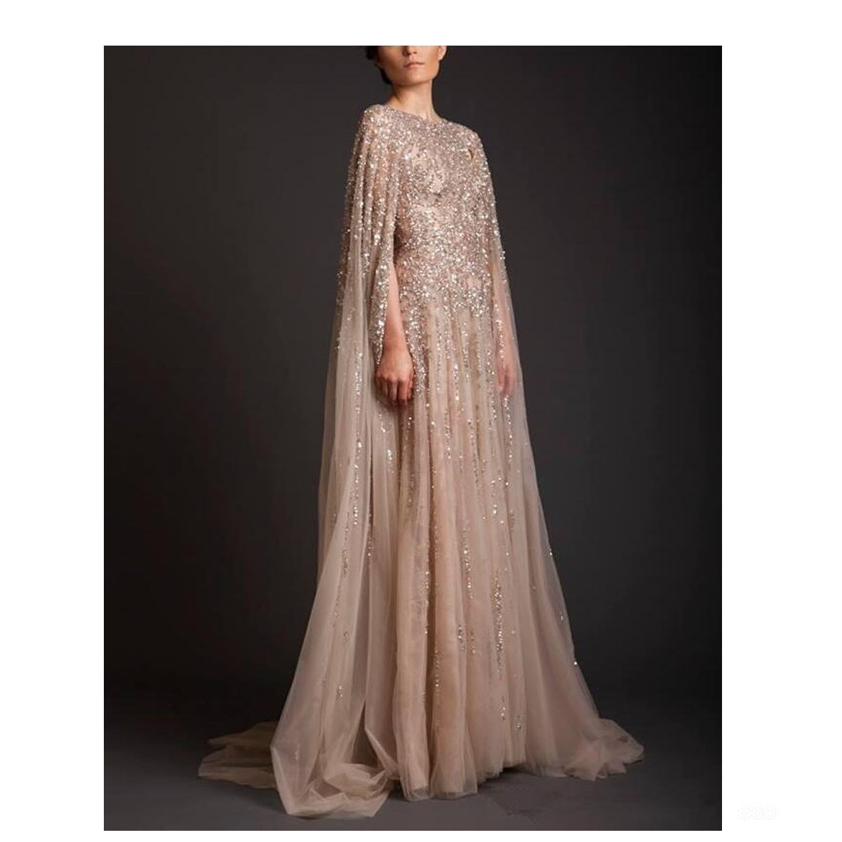 Fair Lady Prom Dresses Champagne Mother Of The Bride Evening Gowns