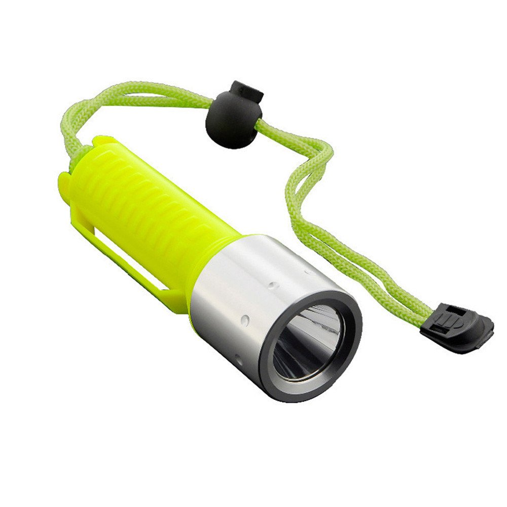 Linterna de Buceo Color Amarillo Heligen LED Submarino Buceo Linterna L/ámpara 2000 l/úmenes Brillante de Luces Impermeable de Seguridad para Exteriores en Deportes de Agua