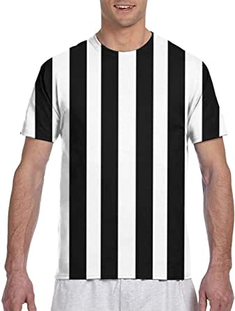 Zhgrong Camisetas de Hombre Mosaico en Blanco y Negro Rayas ...