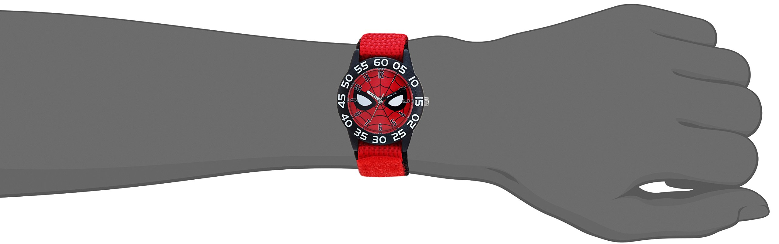 MARVEL Boy's Spider-Man' Quartz Plastic and Nylon Casual Watch, Color:red (Model: WMA000186) by Marvel (Image #2)