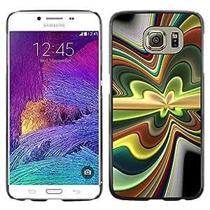 TopCaseStore / la caja del caucho duro de la cubierta de protección de la piel - Abstract Psychedelic - Samsung Galaxy S6 SM-G920