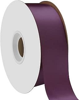 "product image for Offray Berwick 1.5"" Single Face Satin Ribbon, Plum Purple, 50 Yds"