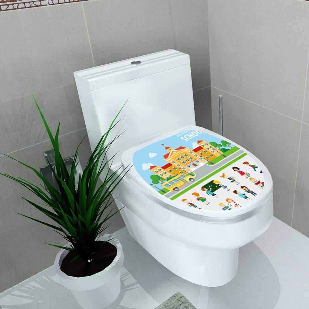 Fantastic Amazon Com Vanfan Toilet Seat Sticker Flat Bus School Evergreenethics Interior Chair Design Evergreenethicsorg