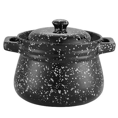 Hizljj - Cacerola de cerámica antiadherente para horno ...