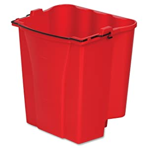 Rubbermaid Commercial Dirty Water Bucket for Wavebrake Bucket/Wringer, 18-Quart, Red (9C74RED)