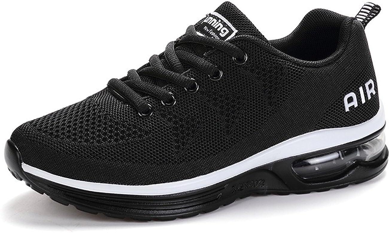 Fexkean Hombre Mujer Zapatillas de Deporte Zapatos Deportivos Aire Libre y Deportes Zapatillas de Running Gimnasia(A35White35): Amazon.es: Zapatos y complementos