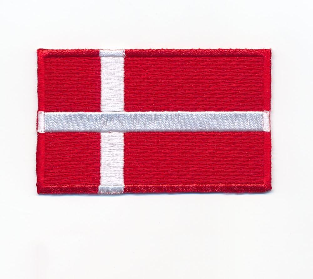 Danemark Copenhague Europe Drapeau Flag /Écusson thermocollant 0947/x 80/x 50/mm
