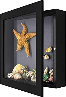 product image for Shadow Box Frame Display Case, 2-inch Depth, Great for Collages, Collections, Mementos (11x11, Black)