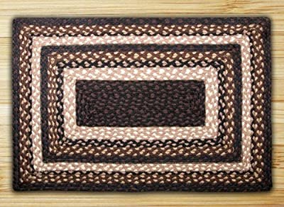 "Earth Rugs 23-313 Rectangle Area Rug, 27 by 45"", Mocha/Frappuccino"