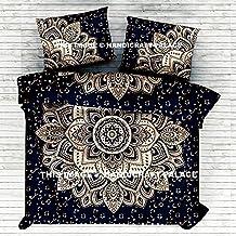 "Indian Ombre Mandala Queen Size Comforter Hippie Boho Cotton Doona Duvet Cover Indian Comforter Mandala Hippie Bohemian Queen Quilt Cover Set By ""Handicraft-Palace"""