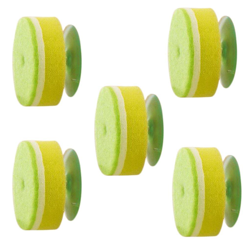 5/X Toruiwa de cuisine /éponge de nettoyage Brosse /à fixation murale /éponge de grattage Traiteur Lavage de la vaisselle /éponge grattante avec ventouse de cuisine Outil de nettoyage 9*3*14.5/cm 9*3*14.5cm  Green