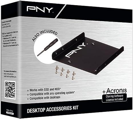 PNY P-72002535-M-KIT - Adaptador bahía para Disco Duro de 2.5