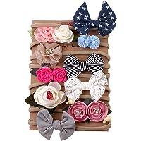 Yutang 10 Piezas de Flores para bebés para Accesorios de Cabello para bebés niñas fotografía