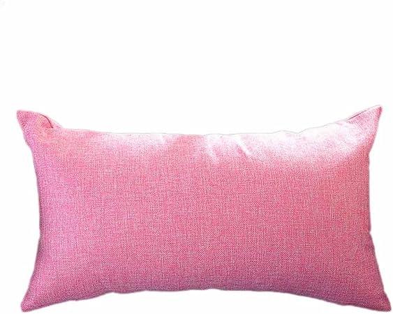 Coussin Housse Canapé Coussin Magenta pink doux peluche