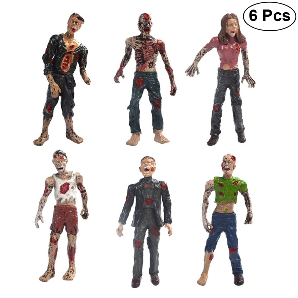 BESTOYARD Static Models Figures scare Toys Walking Dead Zombie Dollsperformance for Boys (6 PCS)