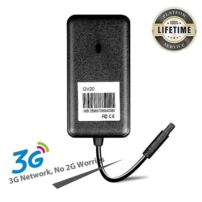 JIMI GV20 3G GPS Tracker Vehículo Rastreador Localizador en Tiempo Real Seguimiento de WCDMA/GSM/GPS/GPRS Alarmas con Llamadas/SMS/APP para Moto Coche ...