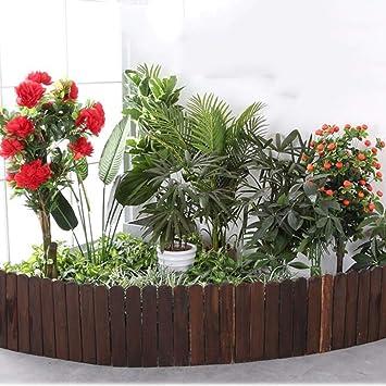 YINUO Cercos Cerca del jardín del anuncio de la pantalla Protección de Plantas y Decoración barrera de borde resistente a la corrosión Protección Ambiental de madera maciza de madera Tip Diseño Balcón: