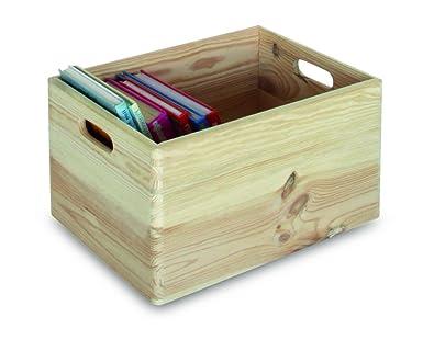 Casibel H369 - Caja de madera para almacenamiento (40 x 30 x 24 cm), color natural: Amazon.es: Industria, empresas y ciencia