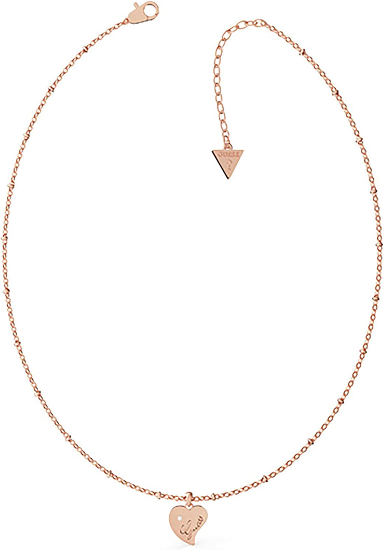 Supongo Collar de Las Mujeres del Acero Inoxidable Colgante de Corazn en Oro Rosa de UBN79014
