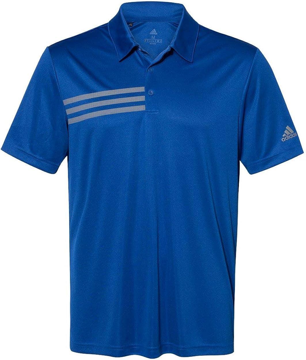 adidas Mens 3-Stripes Chest Sport Shirt (A324)
