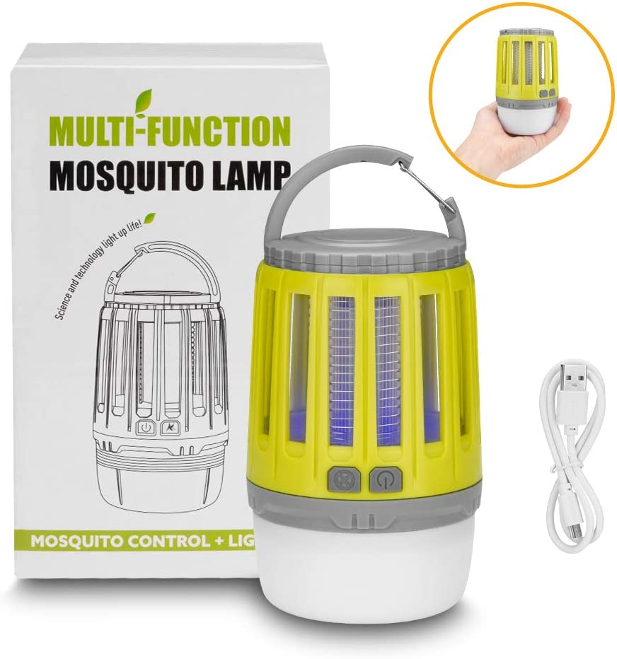 Linkax LED Camping Lantern Mosquito Zapper Tent Light,2-in-1 Insect Bug Zapper,USB Rechargeable Mosquito Killer Lamp for Indoor/&Outdoor Camping,Emergencies