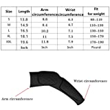 Guozi Hand Arm Elbow Sleeve - Hex Padded Arm Sleeve - Compression Arm Sleeve with Elbow Pad for Football, Volleyball, Baseball Protection