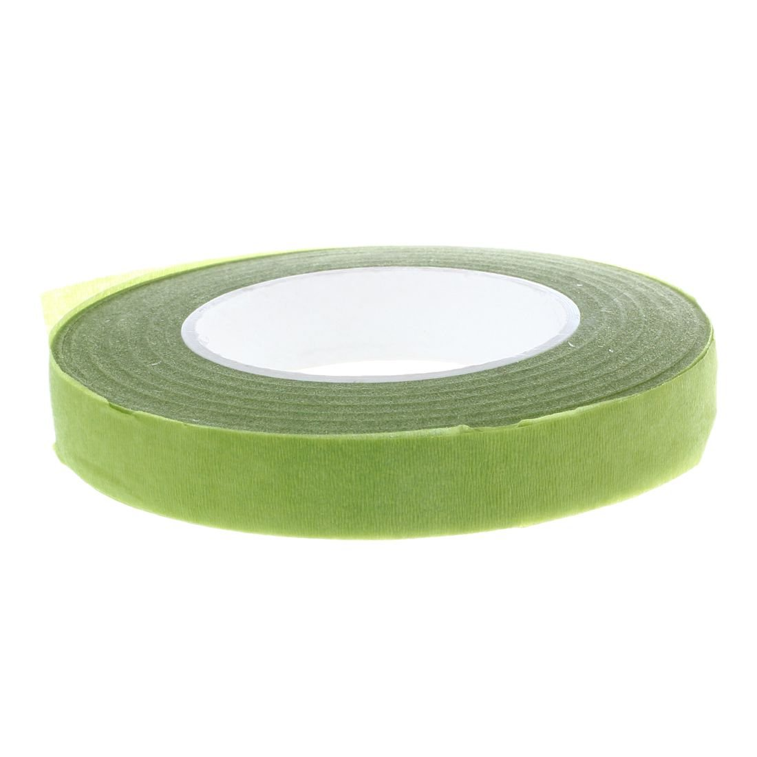 TOOGOO(R) 30Yard 12mm Self-adhesive Paper Tape Floral Stem for Garland Wreaths DIY Craft Artificial Silk Flower(light green)
