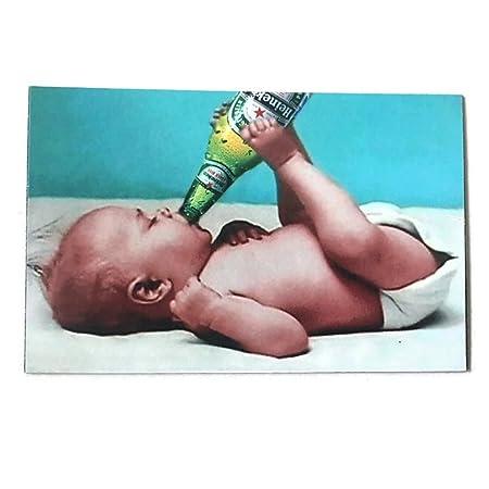 Agilidad y de bebé botella de Heineken Art 1 Vintage Coleccionable ...