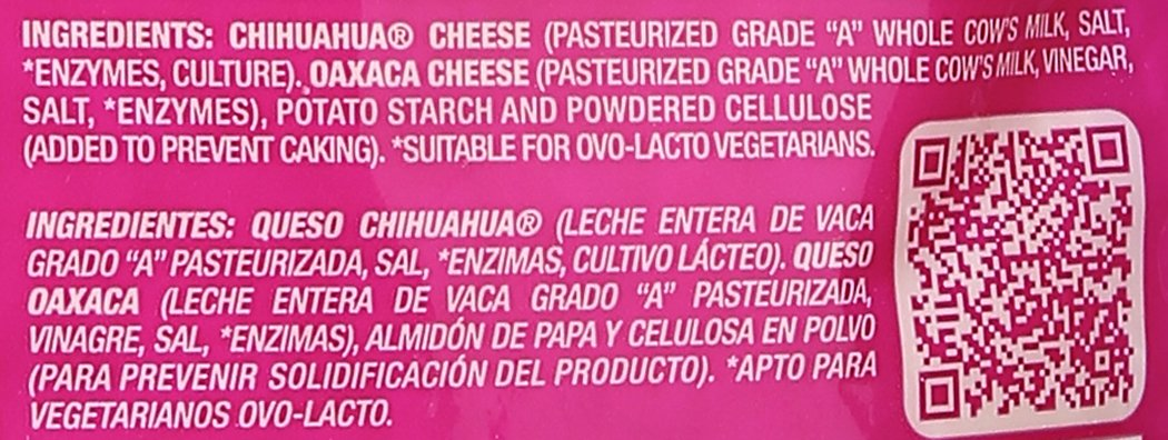 V&V Supremo, 2-Cheese Shredded Mexican Blend, 7.06 oz