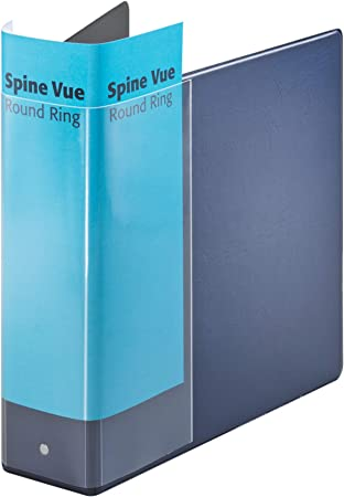 Pack of Samsill Recycled 5-inch Insert Vue 3 D-Ring Binders