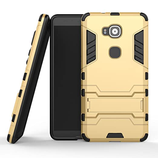 91 opinioni per MOONCASE Huawei G8 Custodia Dual Layer Case ibrida Rigida Morbido Armatura
