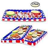 Inflatable cooler by Egnaro,inflatable bar buffet,Food Drink Holder,Buffet Cooler with Drain Plug for Party,BBQ,Pinic,Camping,51''x25.5''x5.5'' -3 Packs (3-Pack)