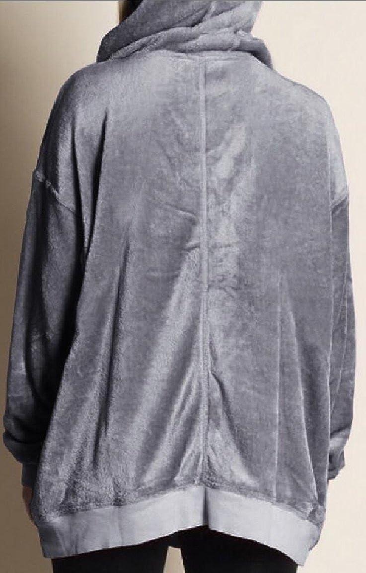 omniscient Women Vintage Velvet Long Sleeve T Shirt Casual Sweatshirt Hoodie