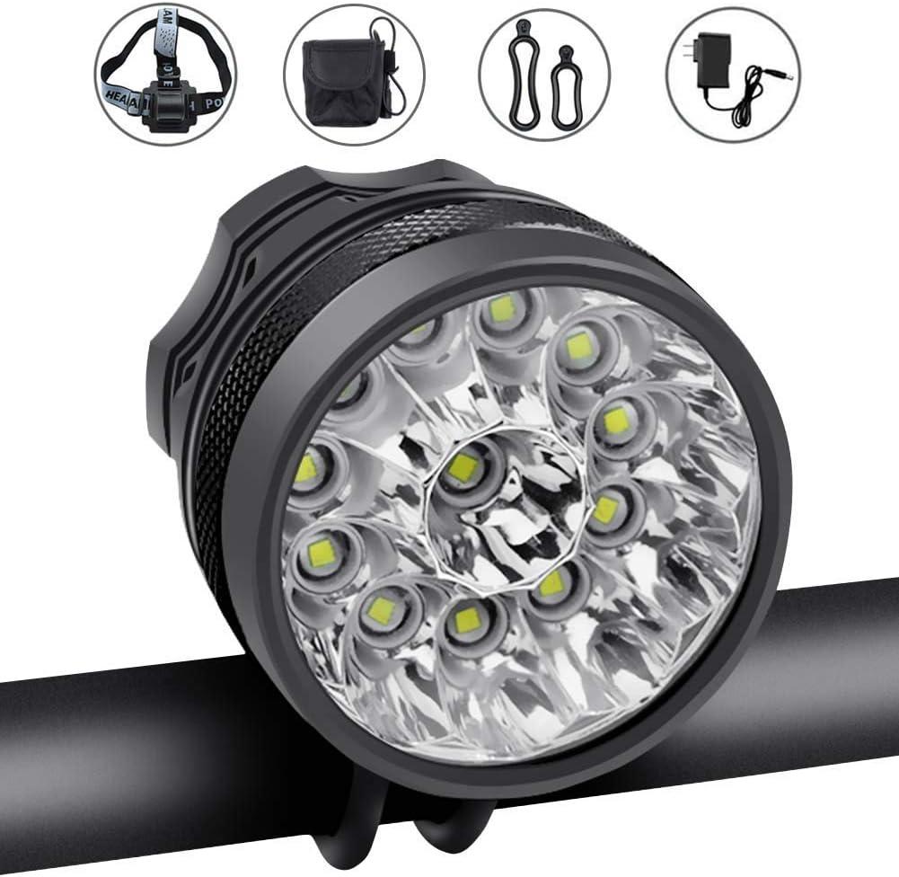 USA Bright Waterproof LED Bike Bicycle Cycling Front Light Headlight Headlamp