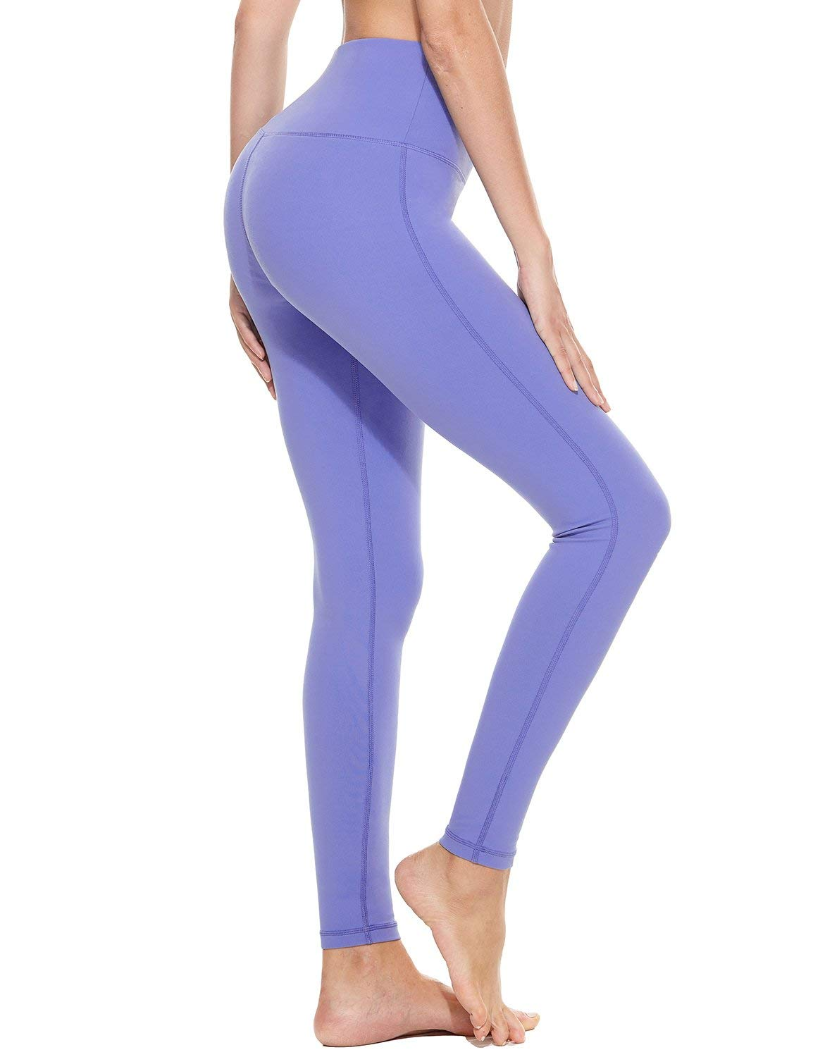 BALEAF Womens 28 High Waisted Yoga Leggings Stretchy Workout Training Pants Seamless Front Pocketed Leggings