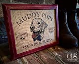 "laundry mudroom ideas Burlap ""Muddy Pups Soaps and Suds"" Print - Home Decor - Housewarming Gift - Bathroom Home Decor - Mud Room - Laundry Wash - Dog Lover Sign"