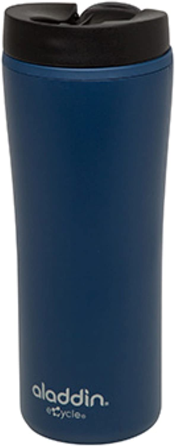 16oz Tumbler with Leakproof Lid an Ideal Recycled and Recyclable Travel Coffee Mug Aladdin eCycle Coffee Travel Mug Take Your Drink on The Go Insulated Coffee Mug Fits in Cupholder Aquamarine