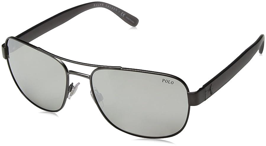 884e097fabb Image Unavailable. Image not available for. Color  Polo Ralph Lauren Men s  Metal Man Non-Polarized Iridium Square Sunglasses ...