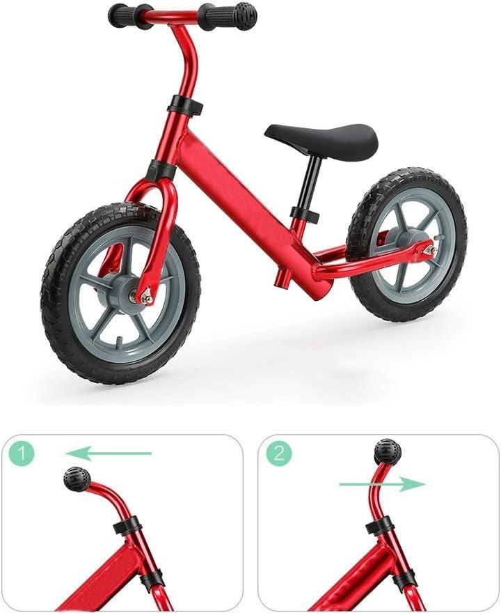 Bicicleta de equilibrio Bicicleta De Equilibrio Para Niños Y Niños Pequeños, Bicicleta Para Niños, Bicicleta De Entrenamiento Ligera Ajustable Para Niños De 12 Con Marco De Acero Al Carbono 4 Color: