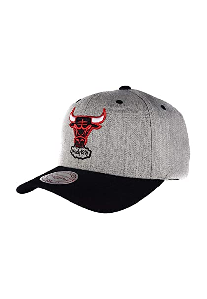 Mitchell & Ness Gorras Chicago Bulls Team Logo 2-Tone 110 Grey Adjustable: Amazon.es: Ropa y accesorios