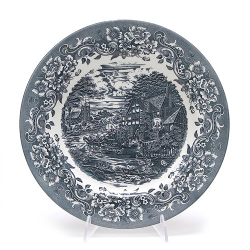 17th Century Blue by Staffordshire Engraving, Stoneware Dinner Plate ()