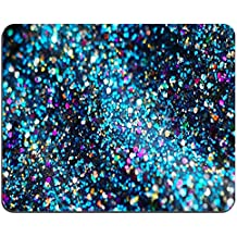 """Glitter Background Oblong Mouse Pads/ Standard Rectangle Gaming Mousepad in 9""""7""""(Blue)214322"""
