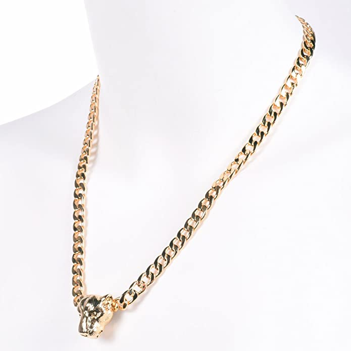 Zoetik 16k Gold Plated Lioness Necklaces Women Jewelry