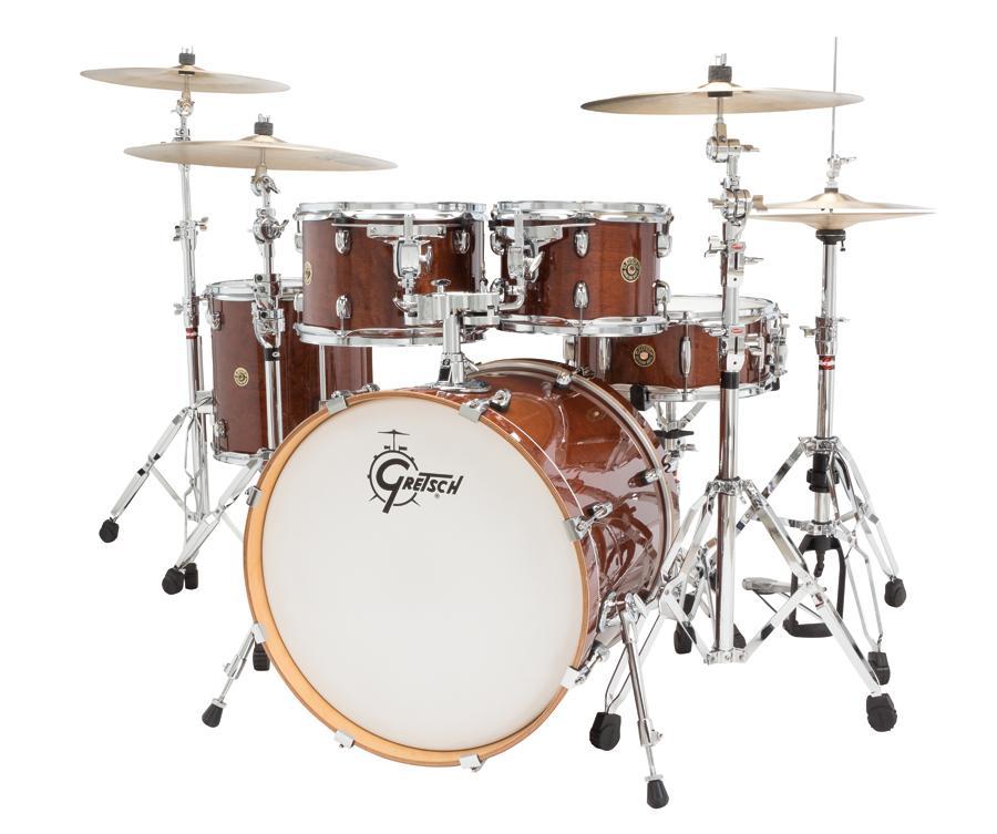 gretsch drums catalina maple cm1 e605 wg 5 piece drum shell pack walnut glaze. Black Bedroom Furniture Sets. Home Design Ideas