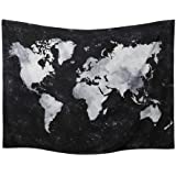 World Map Tapestry Wall Hanging Watercolor Art Decor Abstract Dorm Large Vintage Geography Earth Globe Tapestries Hangings (B