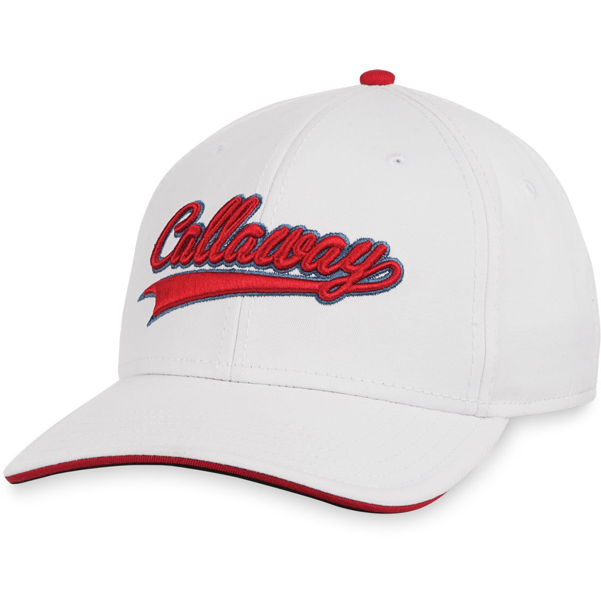 Amazon.com  Callaway Golf Men s Throwback Adjustable Golf Cap - One Size -  White Red  Sports   Outdoors 847e3e62c8d
