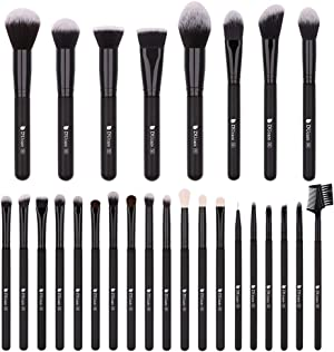 DUcare Makeup Brush Set 27Pcs Professional Makeup Brushes Christmas Gift Premium Synthetic Kabuki Foundation Blending Brush Face Powder Blush Concealers Eye Shadows Make Up Brushes Kit