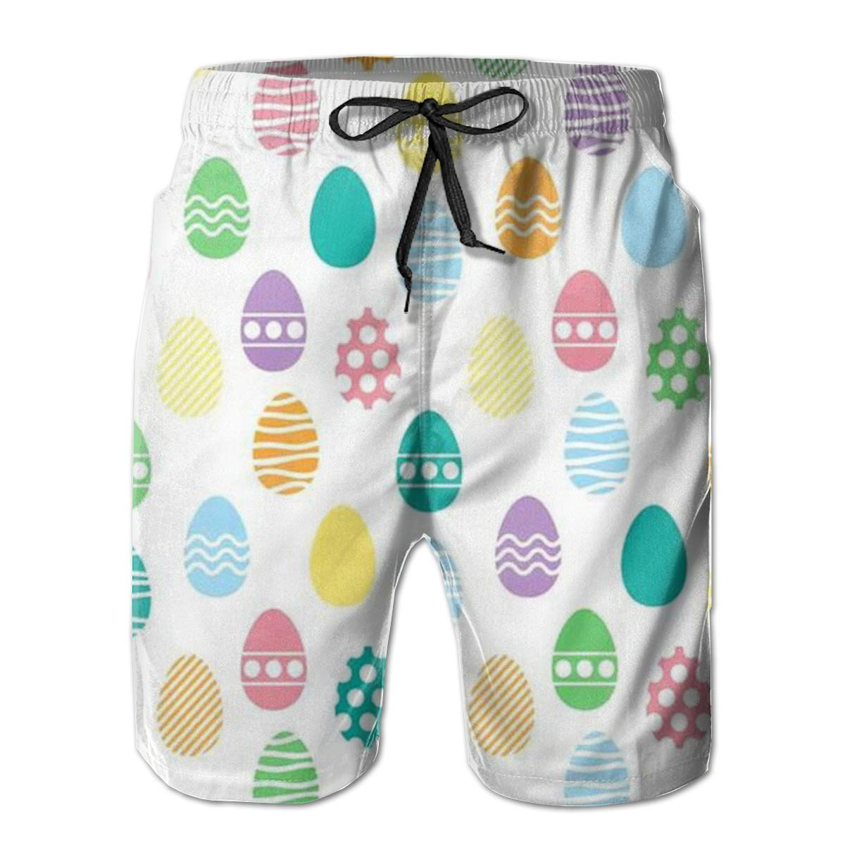 FCNUGS Mens Happy Easter Summer Holiday Quick-Drying Swim Trunks Beach Shorts Board Shorts