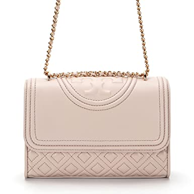 e010c226cd8c Amazon.com  Tory Burch Fleming Quilted Small Convertible Shoulder Bag in  Bedrock  Clothing